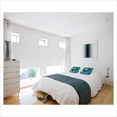 GAP Interiors - White bedroom with turquoise accents - Picture ...