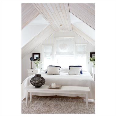 Gap interiors compact bedroom in eaves picture library for Eaves bedroom ideas