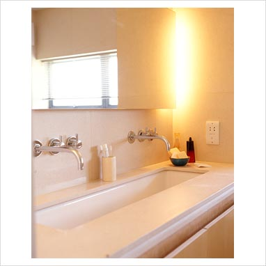Long Sinks Bathrooms : GAP Interiors - Long bathroom sink - Picture library specialising in ...