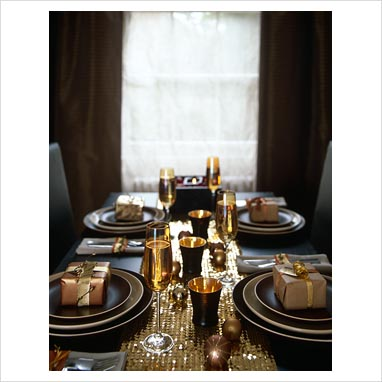 Black And Gold Christmas Table Decorations Christmas