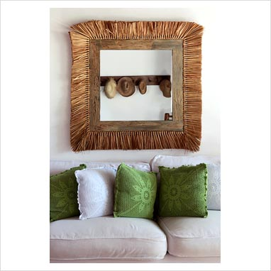 Gap Interiors   Grass Mirror In Country Living Room   Picture Library