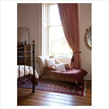 gap interiors chaise lounge in classic bedroom picture
