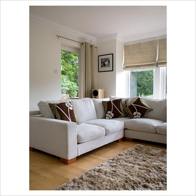 Living Room Window Treatments on Gap Interiors   Corner Sofa In Modern Living Room   Picture Library