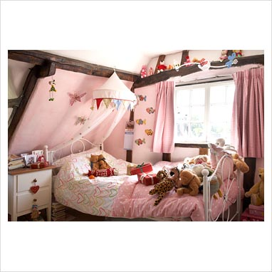 Jessica McClintock Kids Bedroom Set - Canopy Bed in White - by Lea