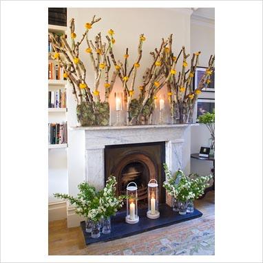 GAP Interiors Display Of Flower Arrangements Around