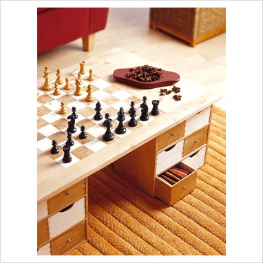 Gap Interiors Chess Board Coffee Table Picture Library Specialising In Interiors Lifestyle