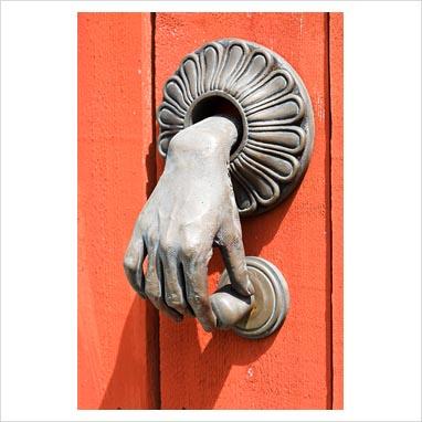 Gap interiors unusual door knocker picture library specialising in interiors lifestyle homes - Unusual door knocker ...