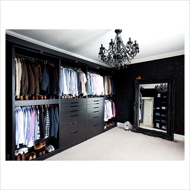 Gap interiors - Black and white dressing room ...